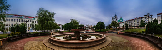 Rua de Stephen Bathory em Grodno, Bielorrússia Foto de Stock