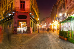 Rua de Strada Eelari em Bucareste, Romênia Imagem de Stock Royalty Free