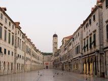 Rua de Stradun em Dubrovnik Fotos de Stock Royalty Free