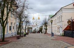 Rua de Suvorov, Vitebsk, Bielorrússia Fotografia de Stock