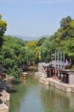 A rua de Suzhou no palácio de verão Fotografia de Stock Royalty Free