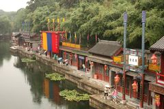 Rua de Suzhou no palácio de verão, Beijing Fotos de Stock