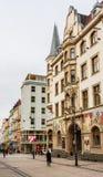 Rua de T g Masarik A vista da cidade velha de Karlovy varia, fotos de stock