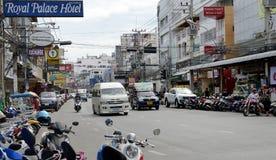 Rua de Tailândia Pattaya Imagens de Stock