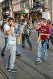 Rua de Taksim Istiklal Fotos de Stock Royalty Free
