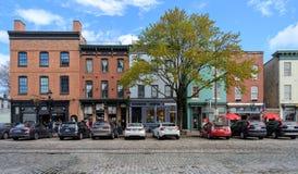 A rua de Tamisa abate dentro o ponto Baltimore fotos de stock