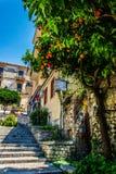 Rua de Taormina Fotos de Stock Royalty Free