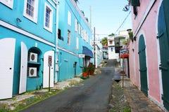 Rua de Thomas Island de Saint Fotografia de Stock Royalty Free