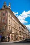 Rua de uma cidade européia velha. Fotos de Stock Royalty Free