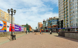 Rua de Vainera no centro de Yekaterinburg. Rússia Imagens de Stock