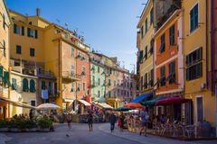 Rua de Vernazza Foto de Stock Royalty Free