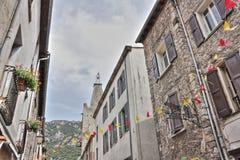 Rua de Villefranche de Conflent, França Fotografia de Stock Royalty Free