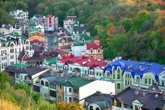 Rua de Vozdvizhenskaya em Kyiv, Ucrânia Imagem de Stock Royalty Free