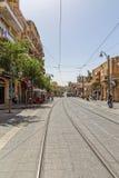 Rua de Yaffo do Jerusalém Imagem de Stock Royalty Free