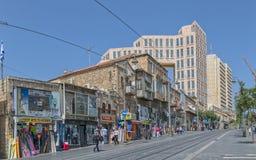Rua de Yaffo do Jerusalém Imagens de Stock
