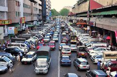 Rua de Yangon, Myanmar Foto de Stock Royalty Free