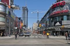 Rua de Yonge, Toronto Foto de Stock Royalty Free