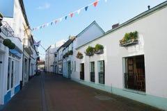 Rua dianteira velha em Sidmouth fotografia de stock royalty free