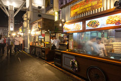 Rua do alimento do bairro chinês de Singapura Fotografia de Stock Royalty Free