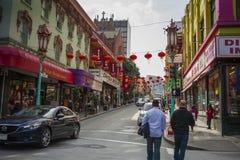 Rua do bairro chinês Foto de Stock