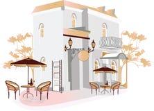 Rua do café Imagem de Stock