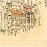 Rua do café Imagens de Stock Royalty Free