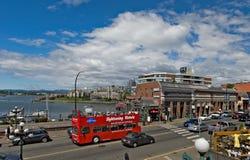 Rua do cais e quadrado do bastião, Victoria, BC, Canadá fotos de stock royalty free
