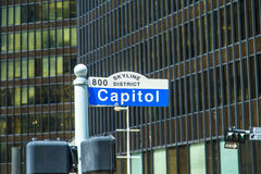 Rua do capitol de Streetsign Fotos de Stock