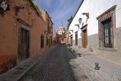 Rua do Cobblestone em México Foto de Stock Royalty Free