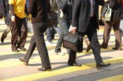 Rua do cruzamento de pedestres Imagens de Stock