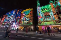 Rua do Flinders durante a noite branca Fotografia de Stock Royalty Free