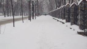 Rua do inverno video estoque