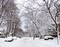 Rua do inverno Fotografia de Stock