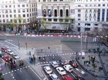 Rua do Madri Fotos de Stock Royalty Free