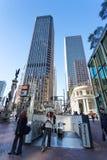Rua do mercado e rua de Montgomery, San Francisco, EUA imagens de stock royalty free