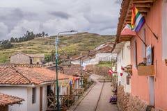 Rua do montanhês de Cuzco, Peru fotografia de stock royalty free