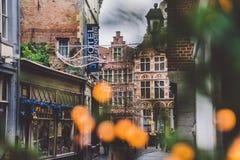 Rua do Natal de Ghent Fotografia de Stock Royalty Free