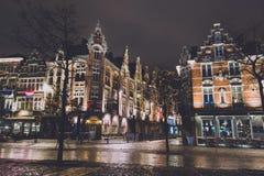 Rua do Natal de Ghent em Bélgica Fotos de Stock