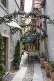 Rua do Natal em Aosta Fotografia de Stock Royalty Free