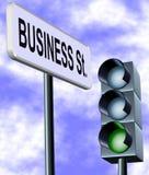 Rua do negócio Imagem de Stock
