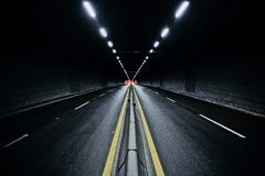 Rua do nighttime Imagens de Stock Royalty Free