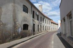 Rua do oldtown de Vilnius Imagem de Stock
