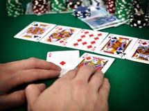 Rua do pôquer Fotografia de Stock Royalty Free