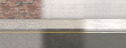 Rua do pavimento e contexto da parede ilustração stock
