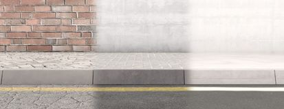Rua do pavimento e contexto da parede ilustração royalty free
