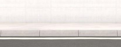 Rua do pavimento e contexto da parede ilustração do vetor