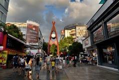 rua do pedestrain Foto de Stock