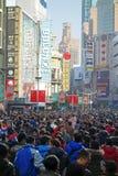 Rua do pedestre da estrada de Shanghai nanjing Foto de Stock Royalty Free