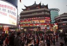 Rua do pedestre de Dongmen em Shenzhen, China Imagens de Stock
