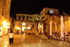 Rua do Split, Croatia Imagem de Stock